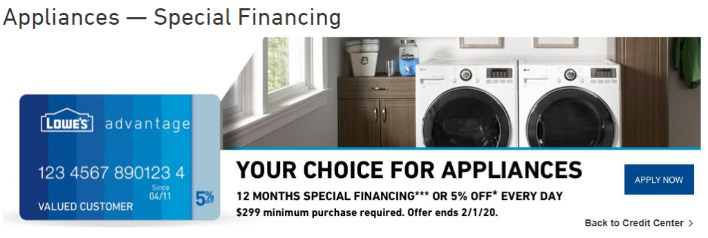 Appliances - Special Financing