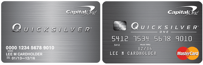 QuicksilverOne Cash Rewards Credit Card