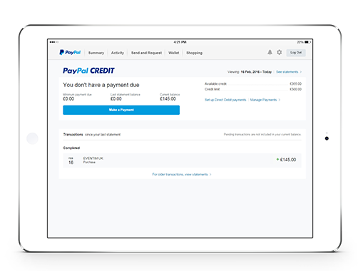 How to Apply for the PayPal Credit
