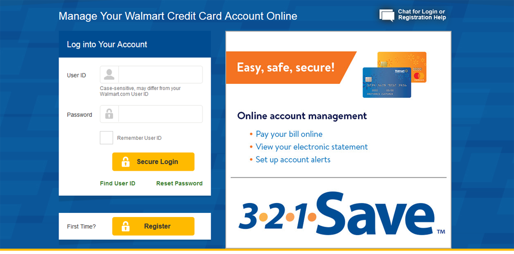 Log In and Manage your Walmart Credit Card Account