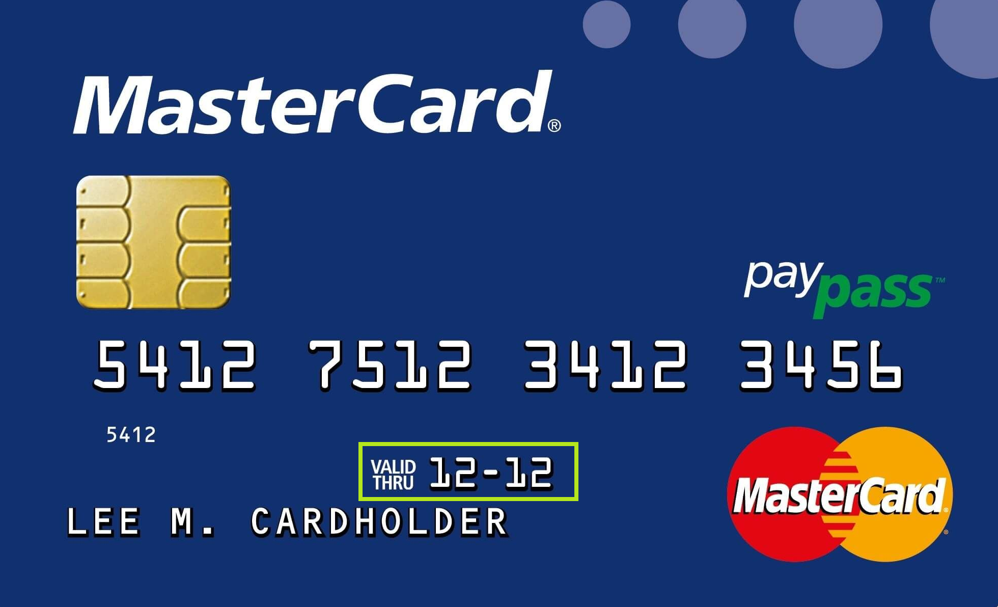 Expiration Date in Credit Card