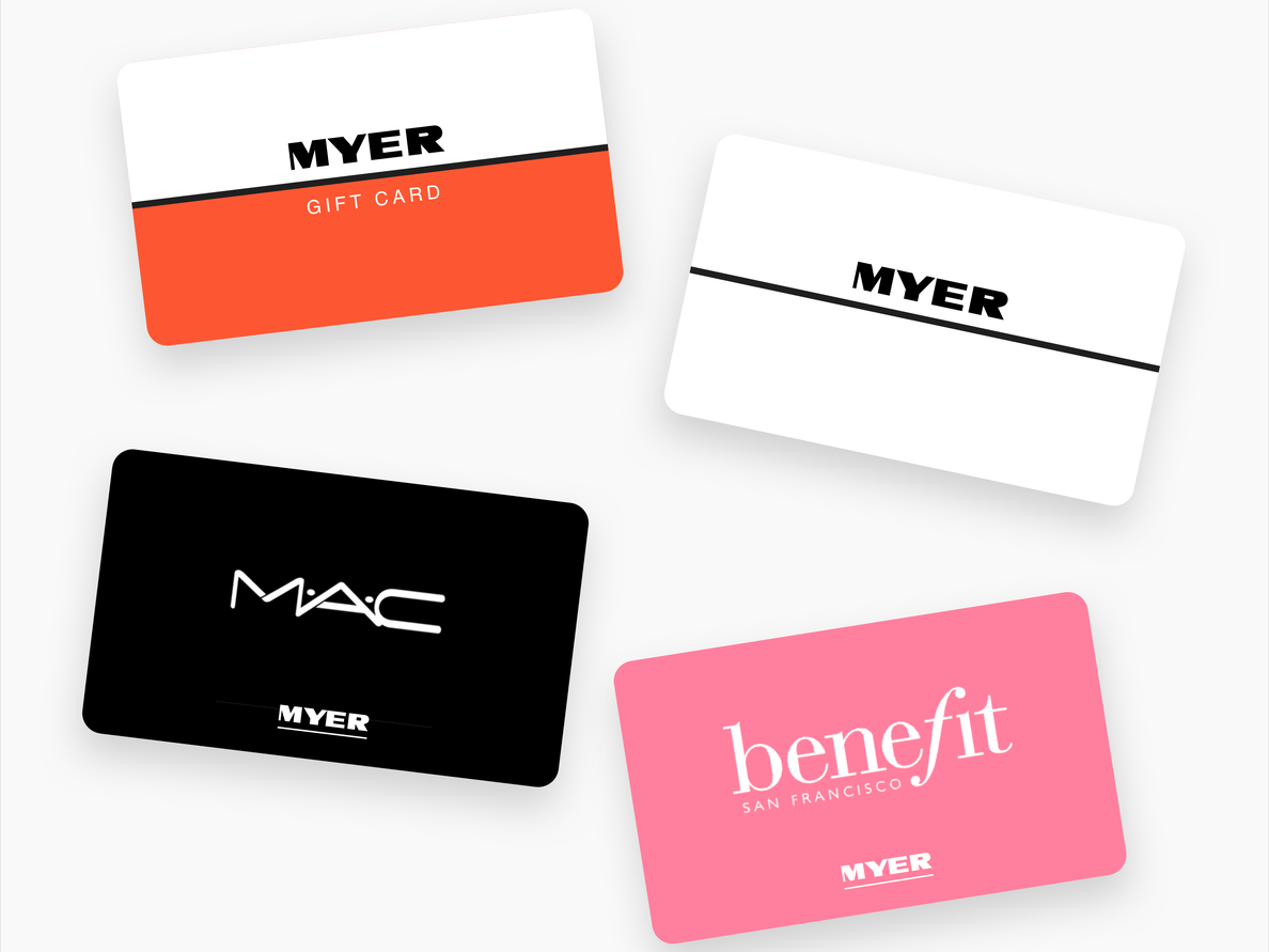 Gift cards for retailers or shops
