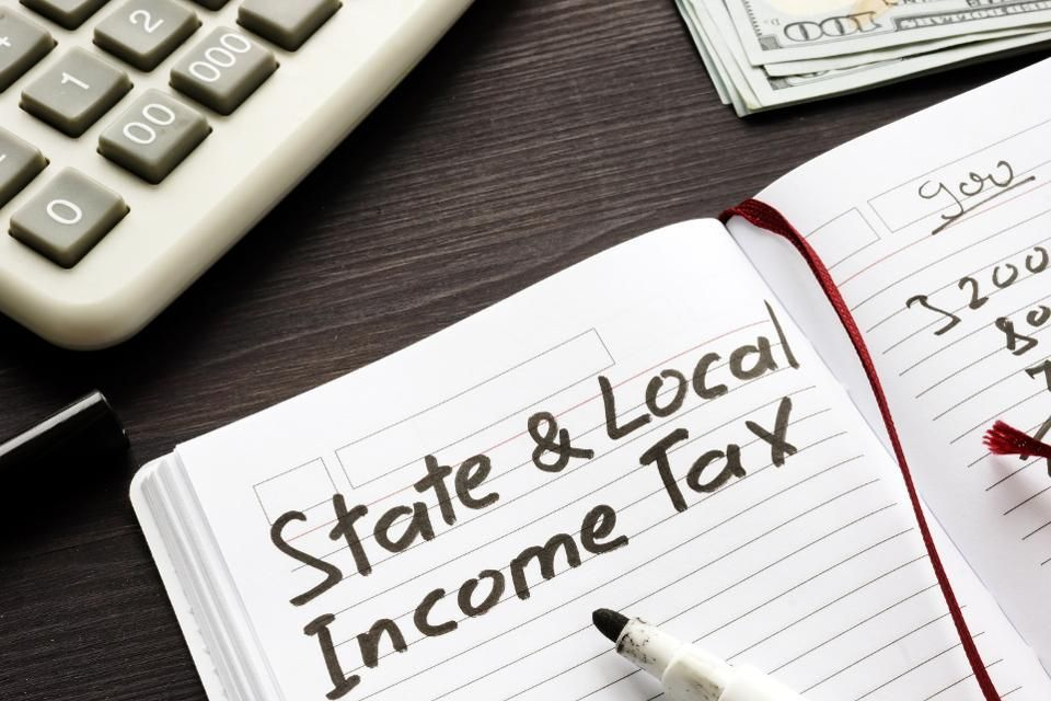 State and local income, sales and property taxes